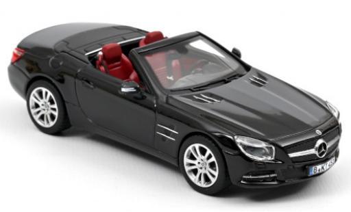 Mercedes Classe SL 1/43 Norev SL 350 (R231) black 2012 Hardtop couché avec diecast model cars