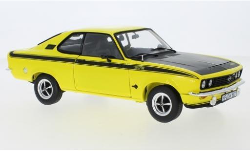 Opel Manta 1/18 Norev A GT/E jaune/matt-noire 1975 miniature