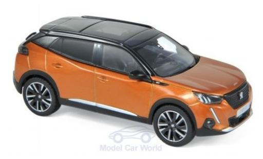 Peugeot 2008 1/43 Norev GT metallise orange/noire 2020 miniature