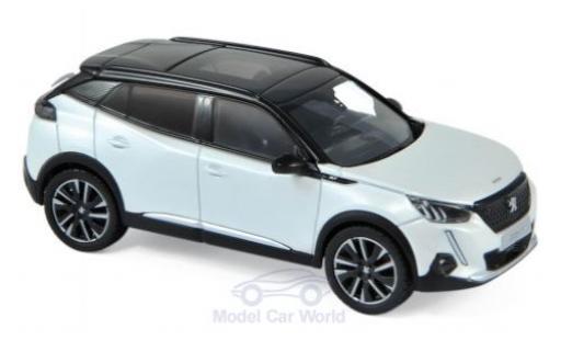 Peugeot 2008 1/43 Norev GT mettalic weiss 2020 modellautos
