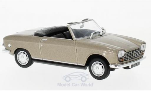Peugeot 204 Cabriolet 1/43 Norev Cabriolet métallisé beige 1967 miniature