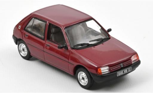 Peugeot 205 1/43 Norev GL red 1988 diecast model cars