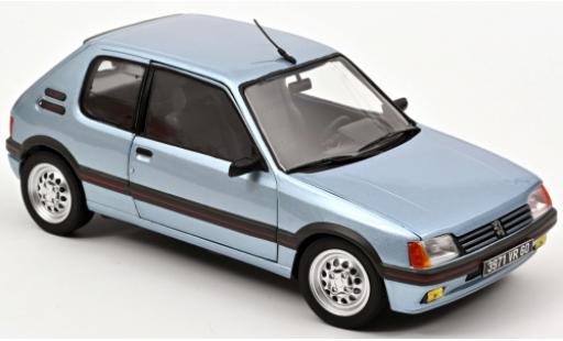 Peugeot 205 1/18 Norev Gti 1.6 azul 1988 coche miniatura