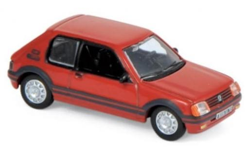 Peugeot 205 1/87 Norev GTI 1.9 rot 1987 modellautos