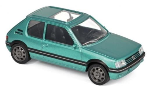Peugeot 205 1/43 Norev GTi metallise green 1992 Jetcar diecast model cars