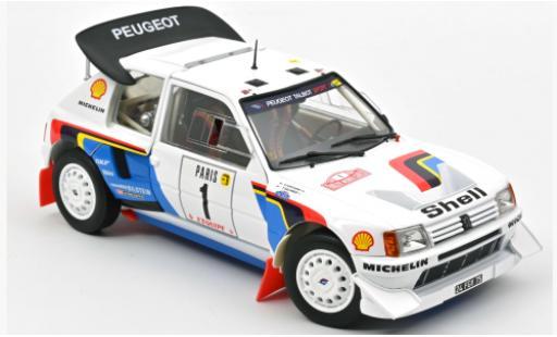 Peugeot 205 1/18 Norev T16 No.1 S Rally Monte Carlo 1986 T.Salonen/S.Harjanne coche miniatura