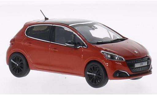 Peugeot 208 1/43 Norev orange 2015 diecast model cars