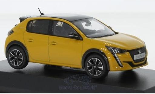 Peugeot 208 1/43 Norev GT yellow/black 2019 diecast model cars
