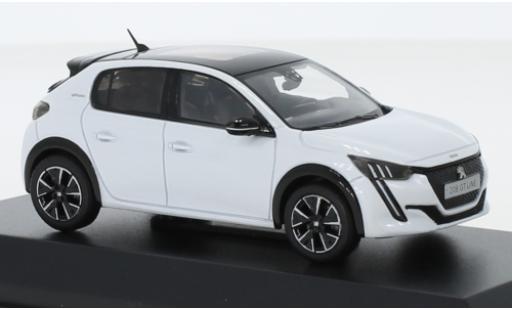Peugeot 208 1/43 Norev GT Line metallise white 2019 diecast model cars