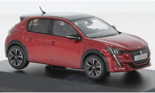 Peugeot 208 1/43 Norev GT rouge/noire 2019 miniature