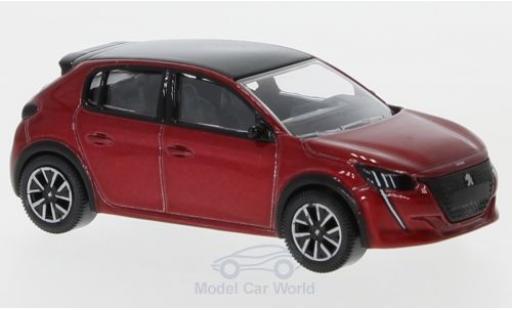 Peugeot 208 1/64 Norev metallise red 2019 diecast model cars