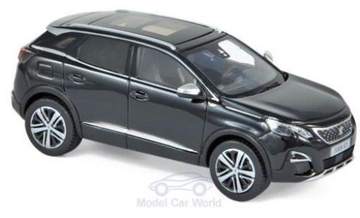Peugeot 3008 1/43 Norev GT noire 2016 miniature