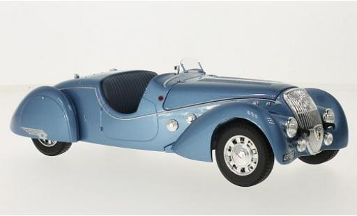 Peugeot 302 1/18 Norev Darl-Mat Roadster metallise blue 1937 diecast model cars