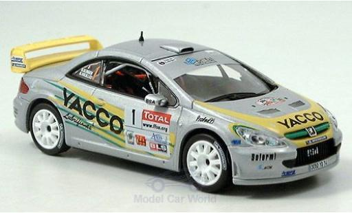 Peugeot 307 WRC 1/43 Norev No.1 Yacco Vouilloz/Kunger miniature