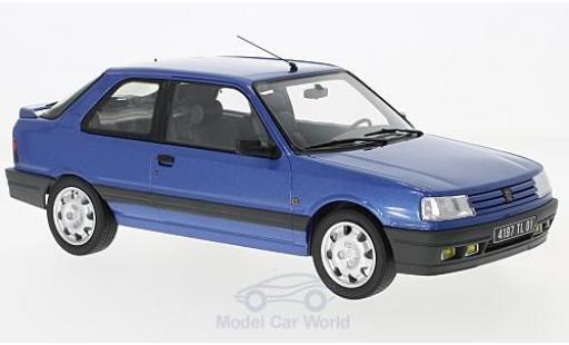 Peugeot 309 GTI 16 1/18 Norev metallise blau 1991 modellautos