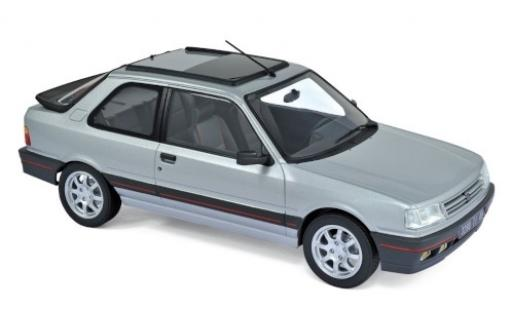 Peugeot 309 1/18 Norev GTi metallise grey 1987 diecast model cars