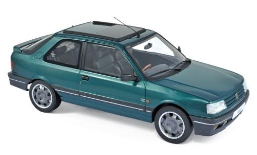 Peugeot 309 1/18 Norev GTI metallise green 1991 diecast model cars