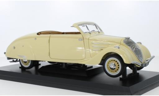 Peugeot 402 1/18 Norev Eclipse beige 1937 diecast model cars