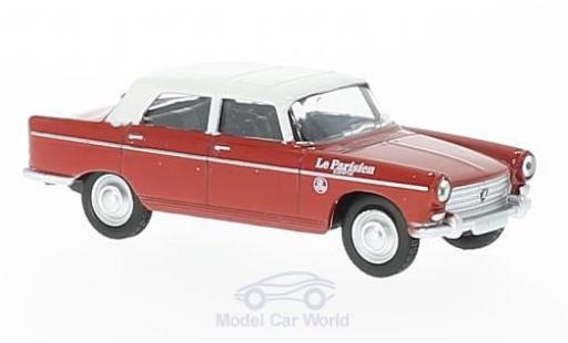 Peugeot 404 1/64 Norev red/white Cycliste - Directeur de la Course (F) 1961 diecast model cars