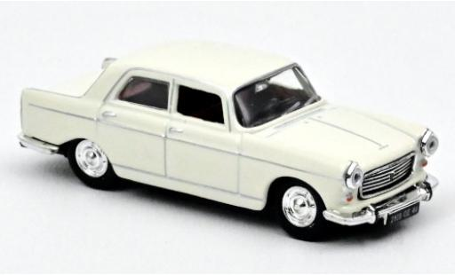 Peugeot 404 1/87 Norev white 1968 diecast model cars