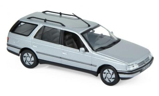 Peugeot 405 1/43 Norev Break metallise grise 1991 miniature