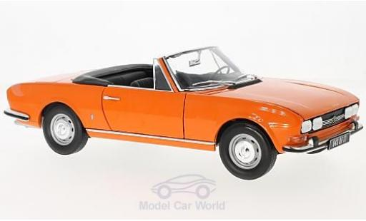Peugeot 504 Cabriolet 1/18 Norev orange 1970 miniature
