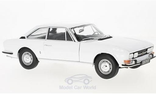 Peugeot 504 coupe 1/18 Norev Coupe white 1969 diecast model cars