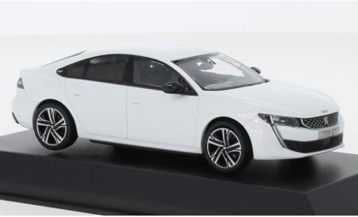 Peugeot 508 1/43 Norev GT metallise white 2018 diecast model cars