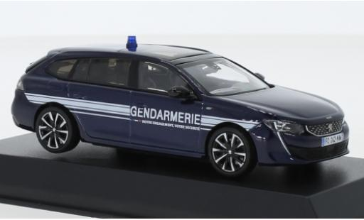 Peugeot 508 1/43 Norev SW GT Gendarmerie (F) 2018 diecast model cars