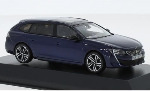 Peugeot 508 1/43 Norev SW GT metallise blue 2018 diecast model cars