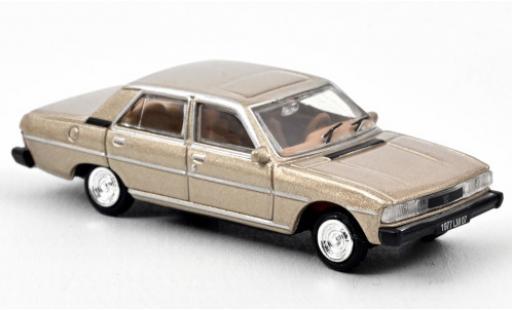 Peugeot 604 1/87 Norev metallise beige 1977 coche miniatura