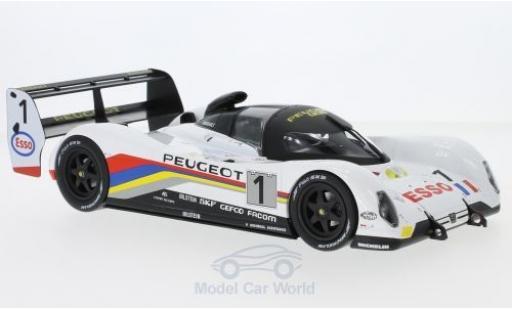 Peugeot 905 1992 1/18 Norev No.1 24h Le Mans 1992 Y.Dalmas/D.Warwick/M.Blundell miniature