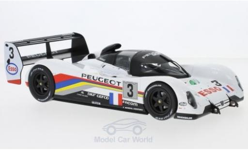 Peugeot 905 1/18 Norev No.3 24h Le Mans 1993 C.Bouchut/E.Helary/G.Brabham miniature