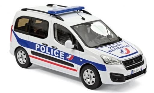 Peugeot Partner 1/18 Norev Police Nationale (F) 2017 diecast model cars