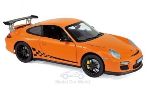 Porsche 997 GT3 RS 1/18 Norev 911 ( II) orange 2009 modellino in miniatura