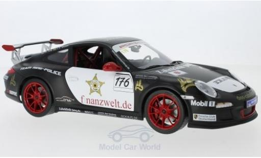 Porsche 997 GT3 RS 1/18 Norev 911 (II) No.176 Flash-Racing Team Ring Police Sports Cup 2011 J.E.Slooten/T.Jung miniature