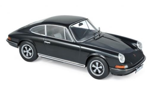 Porsche 911 1/18 Norev S black 1973 diecast model cars