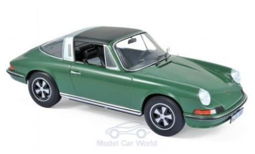 Porsche 911 1/18 Norev S Targa green 1973 diecast model cars