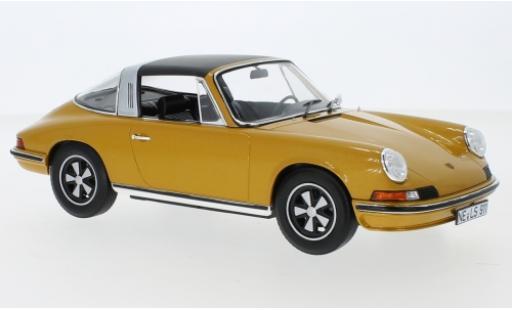 Porsche 911 1/18 Norev S Targa metallise gold 1973 Targadach détachable diecast model cars