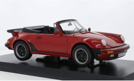 Porsche 930 Turbo 1/18 Norev 911 Cabriolet red 1987 diecast model cars