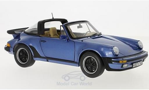 Porsche 930 Turbo 1/18 Norev 911 Targa metallise blue 1987 diecast model cars