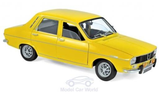 Renault 12 1/18 Norev TS yellow 1973 diecast model cars