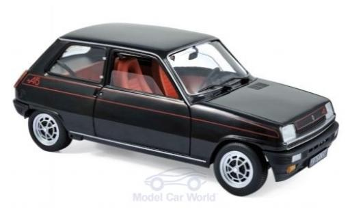 Renault 5 1/18 Norev Alpine negro 1976 miniatura