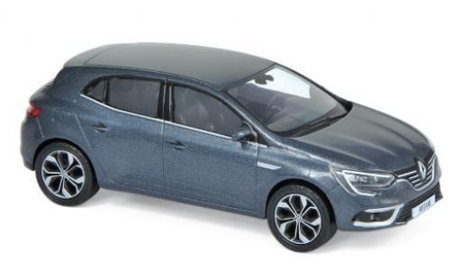 Renault Megane 1/43 Norev metalico gris 2016 miniatura