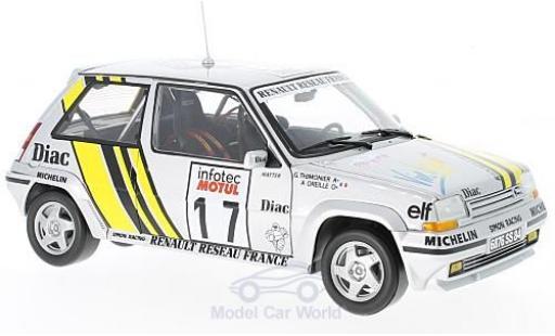 Renault 5 GT Turbo 1/18 Norev Supercinq GT Turbo No.17 Rallye WM Tour de Corse 1989 J.Ragnotti/G.Thimonier miniature