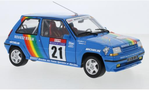 Renault 5 GT Turbo 1/18 Norev Supercinq GT Turbo No.21 Tour de Corse 1990 J-P.Cirindini/C.Balesi miniature