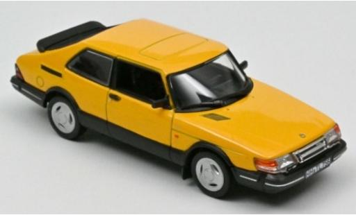 Saab 900 1/43 Norev Turbo 16 yellow 1992 diecast model cars
