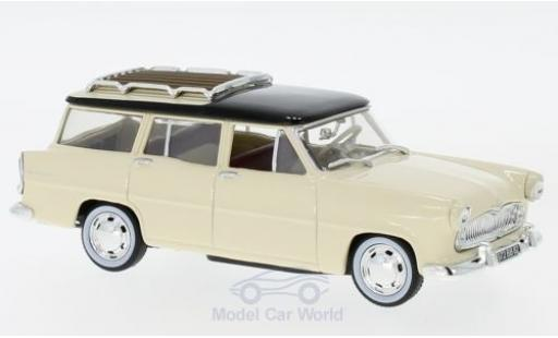 Simca Vedette 1/43 Norev Marly beige/noire 1957 miniature