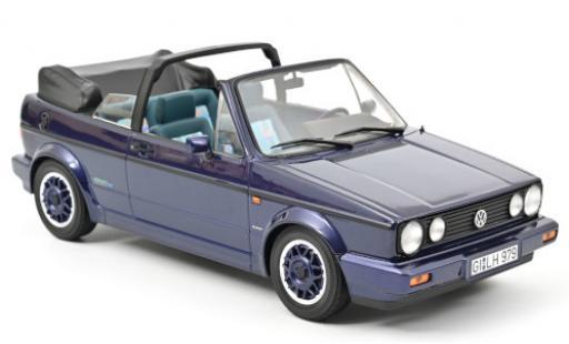 Volkswagen Golf 1/18 Norev I Cabriolet Coast metallise purple 1991 Verdeck ouvert diecast model cars
