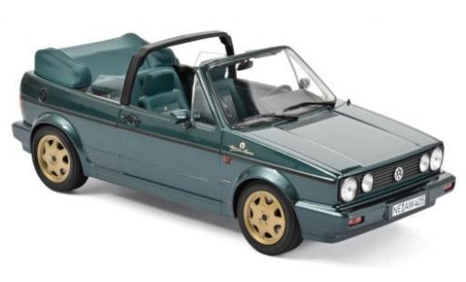 Volkswagen Golf 1/18 Norev I Cabriolet Etienne Aigner metallise green 1990 diecast model cars